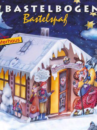 Lichterhaus Lebkuchenhaus Hänsel und Gretel Bastelbogen Advent Weihnachten Kinder