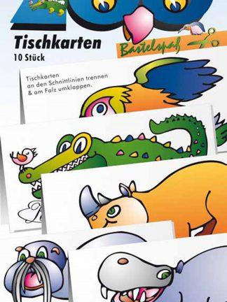 Tischkarten Bastelbogen Anfänger schneiden Lernen Geburtstag Tisch Deko Basteln