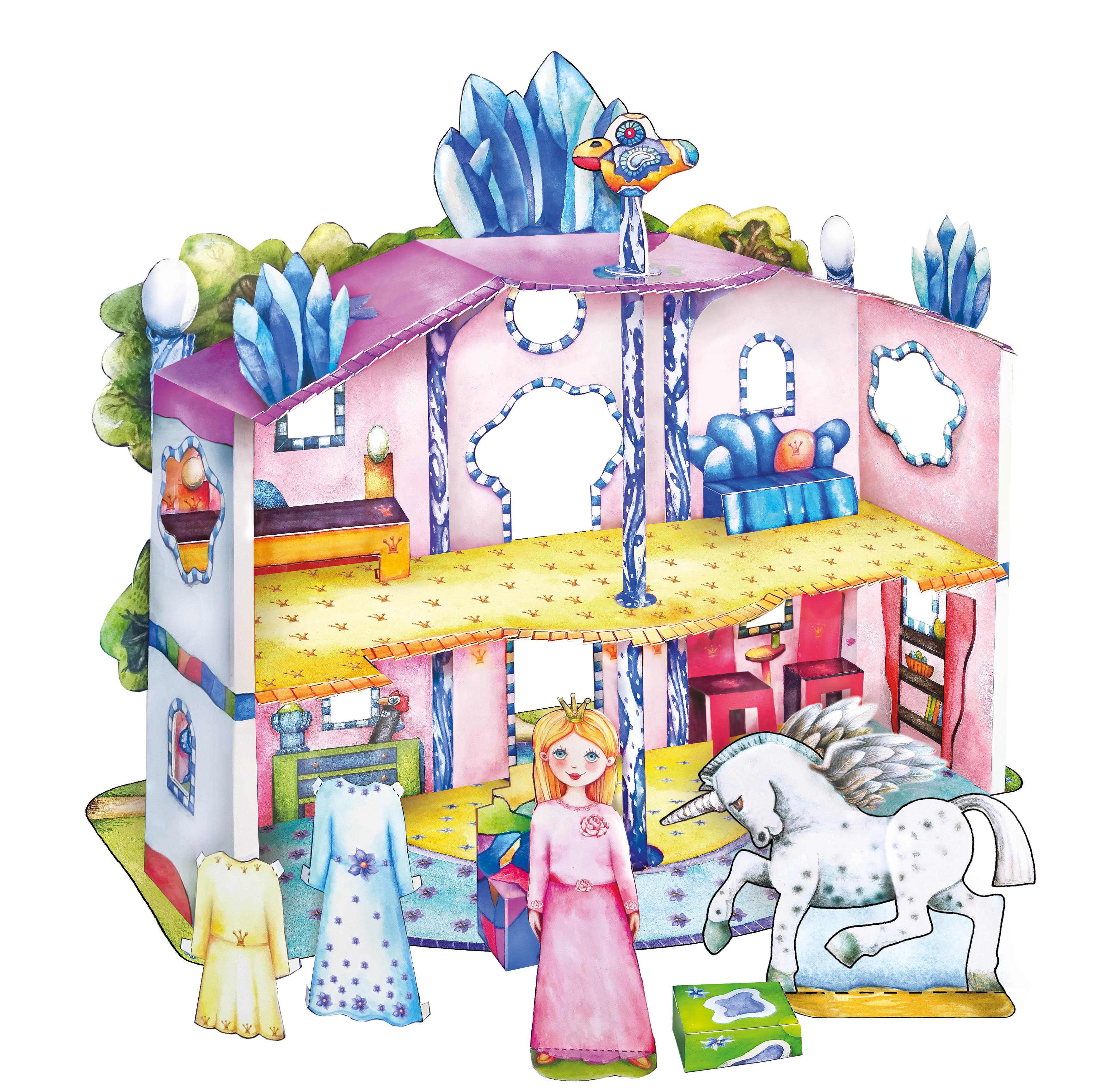 Feenhaus Bastelbogen Puppenhaus aus Papier