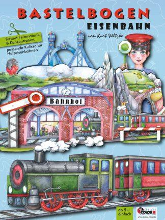 Bastelbogen Eisenbahn Kulisse für Holzeisenbahn