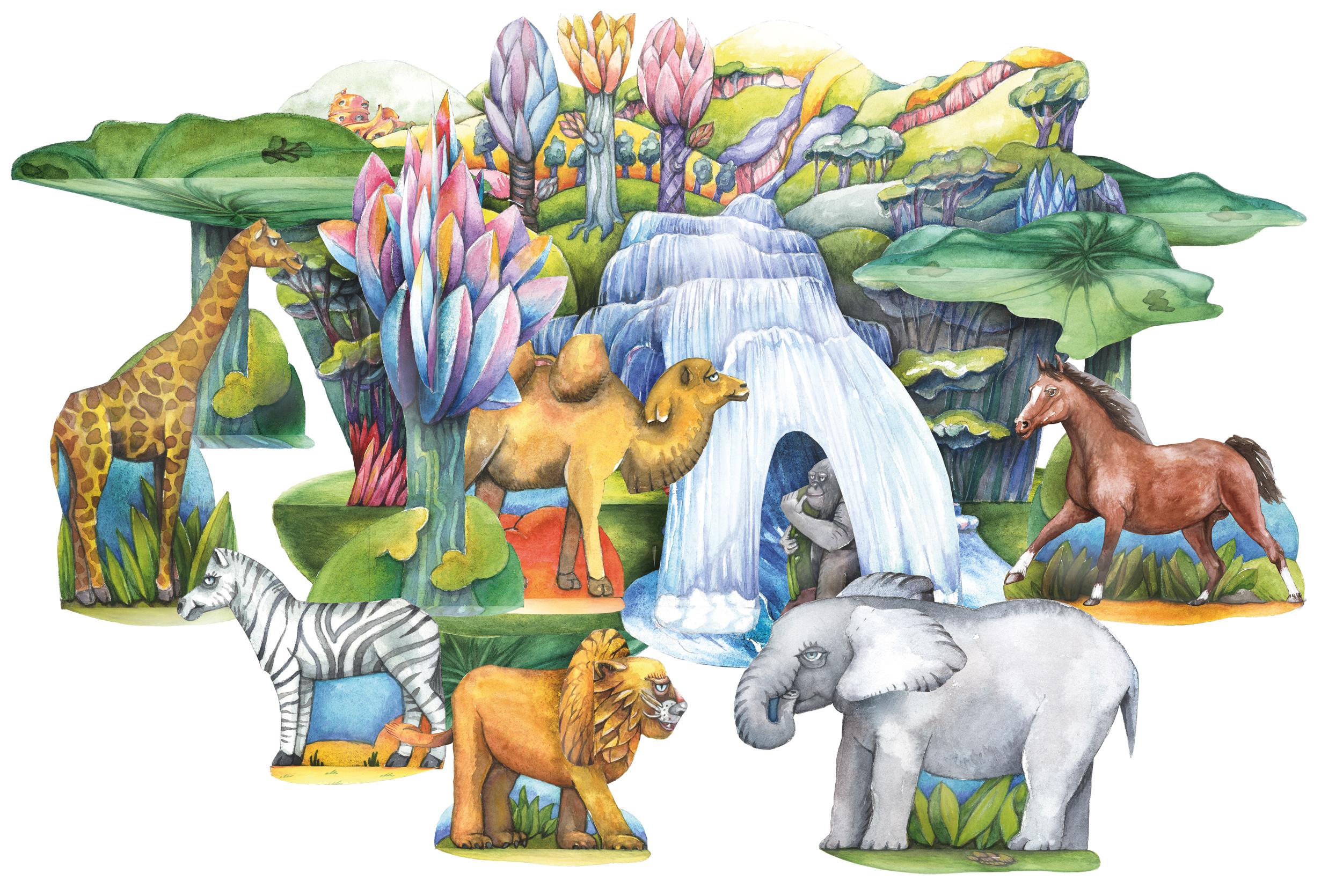 Park der Tiere Bastelbogen