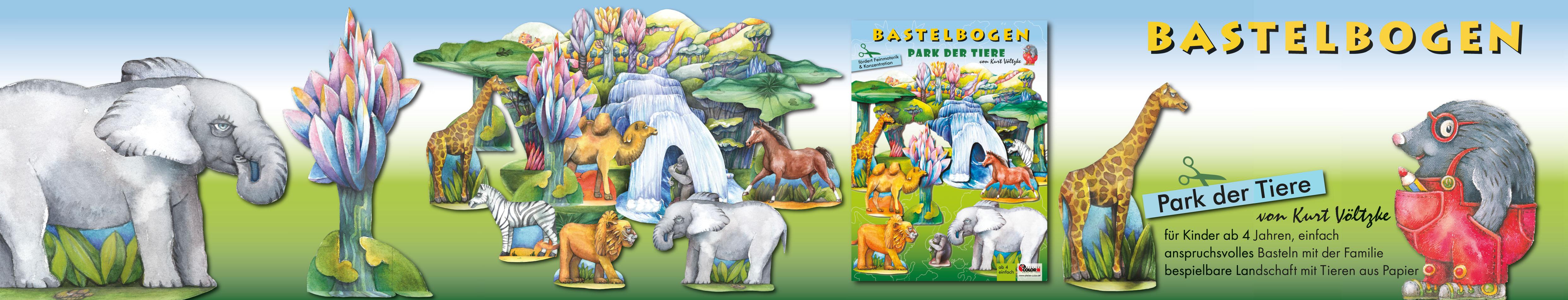Bastelbogen Park der Tiere