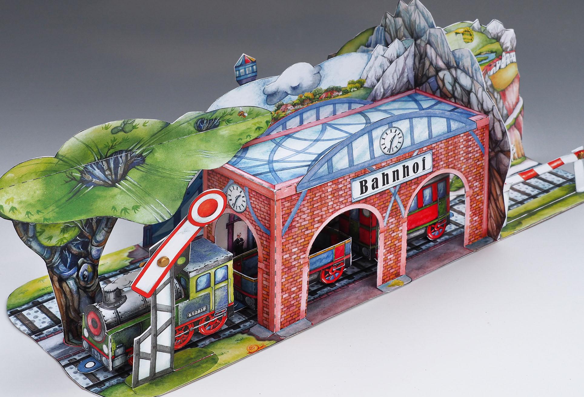 Eisenbahn Papierspielzeug
