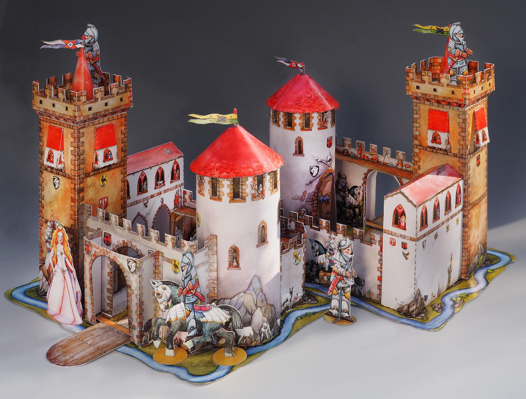 Ritterburg Papierspielzeug