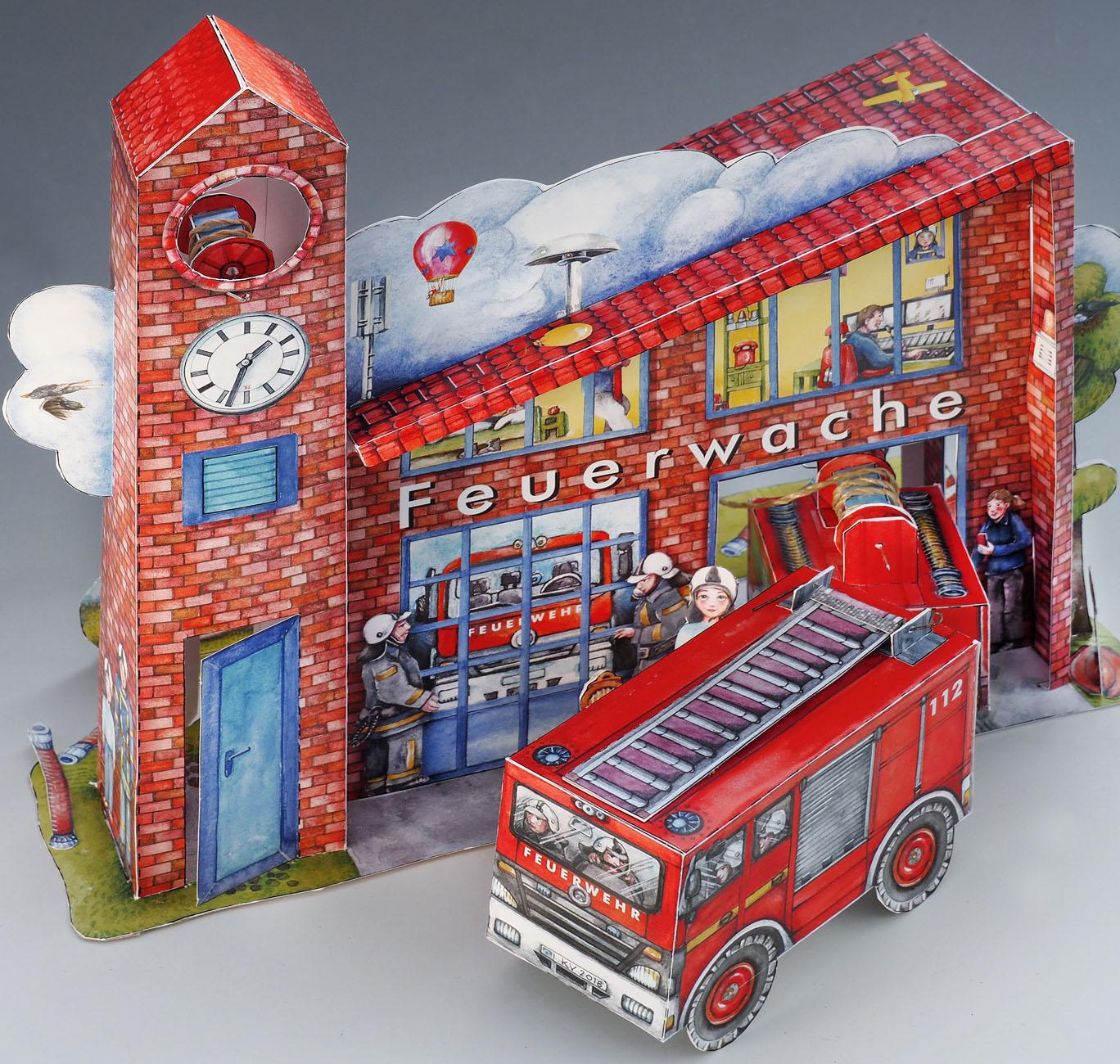 Feuerwache Papierspielzeug