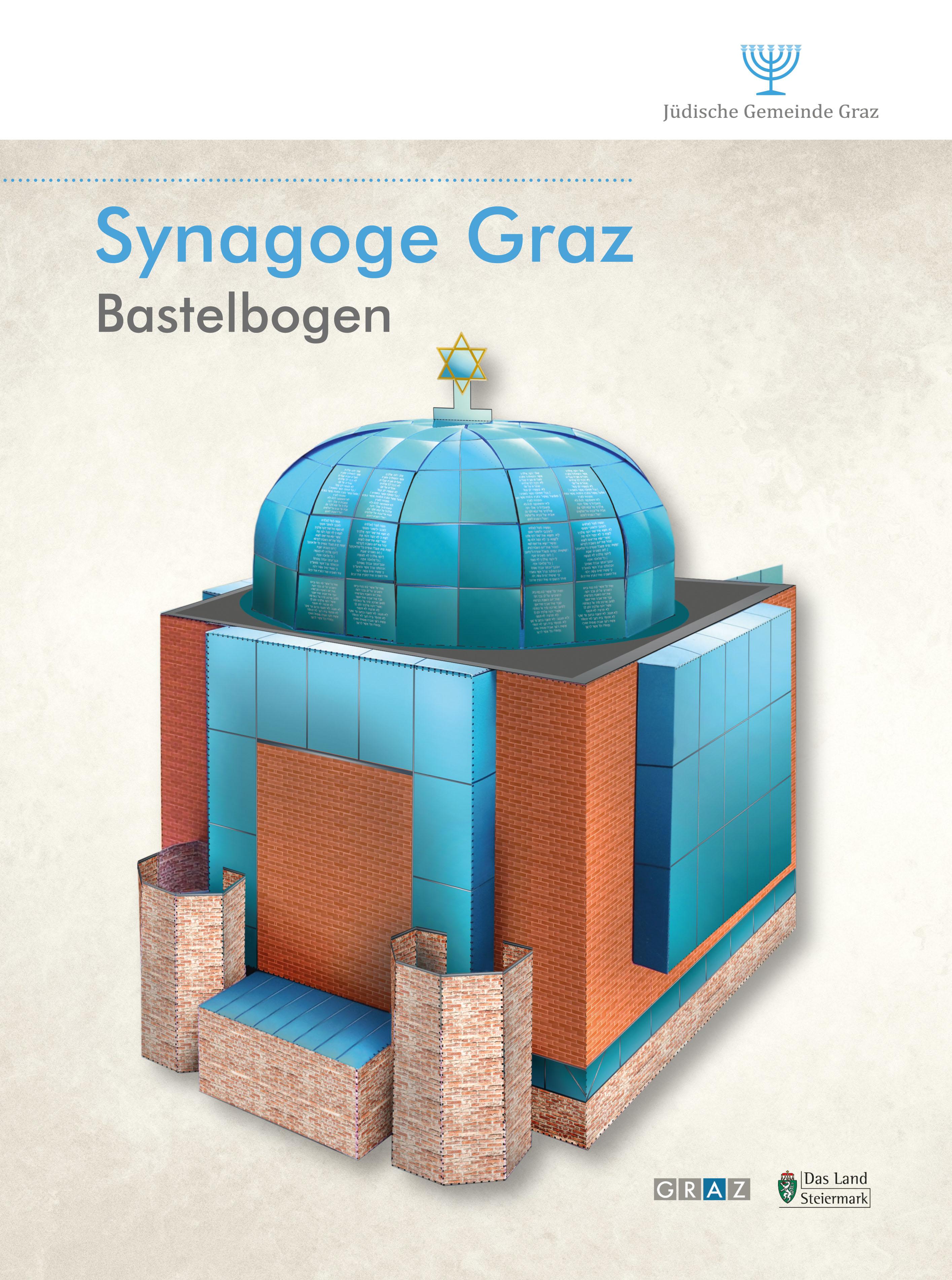 Synagoge Graz Bastelbogen