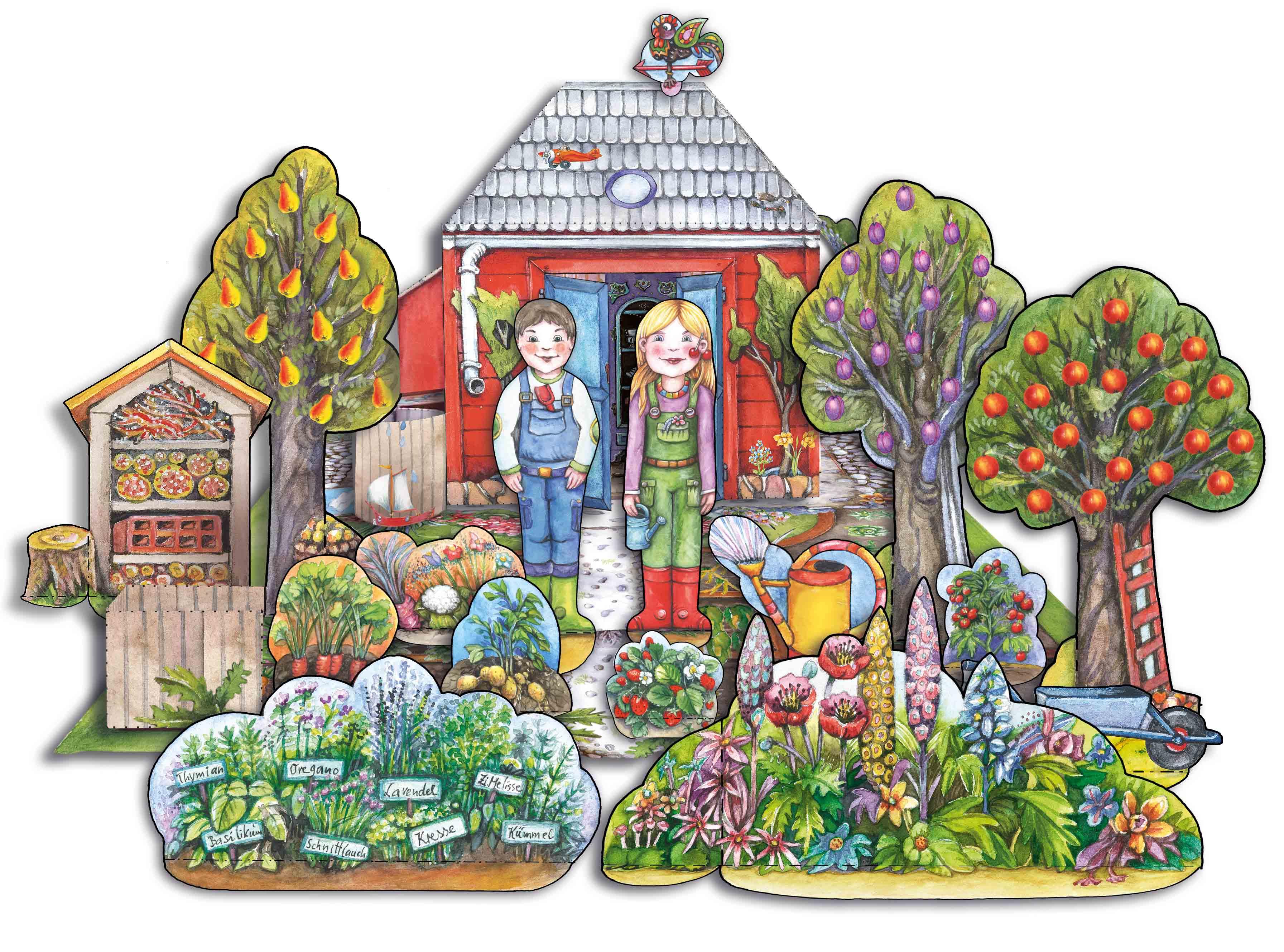 Bastelbogen Garten BUGA
