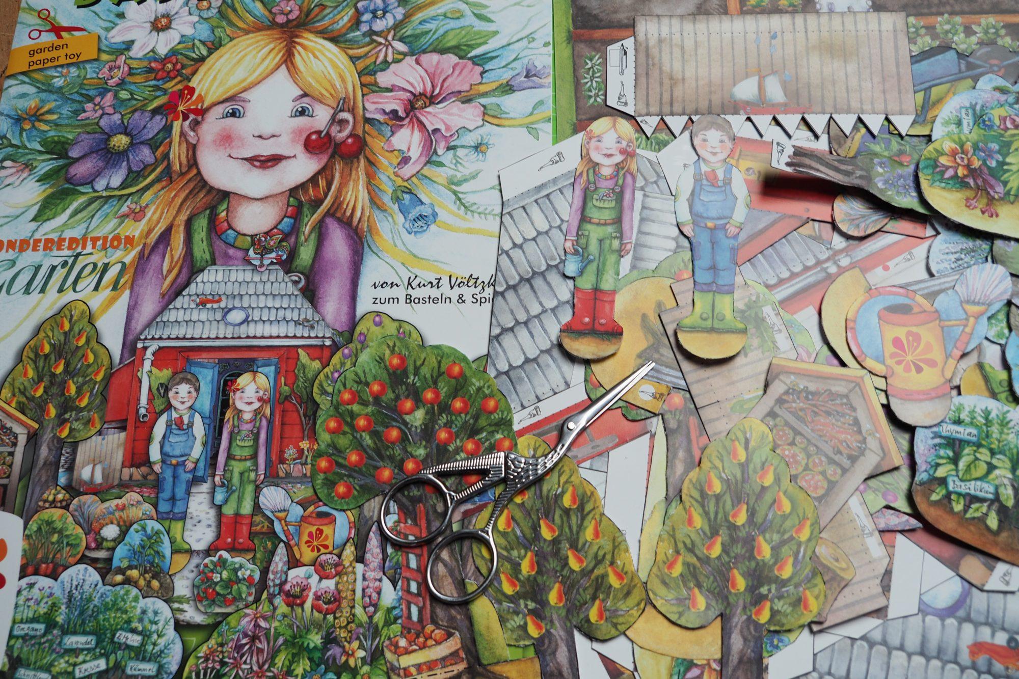 Garten Bastelbogen Kinder BUGA Erfurt Papierspielzeug