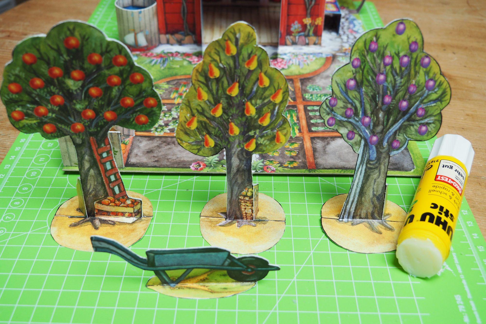 Bastelbogen Garten BUGA für Kinder zum Basteln und Spielen aus Papier